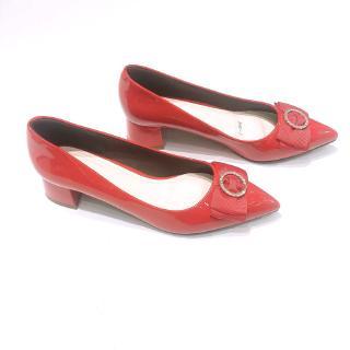 Min s Shoes - Giày Gót Vuông Nơ VN80 Đỏ thumbnail