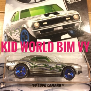 Xe mô hình Hot Wheels 50th Anniversary Zamac Flames Series 2018 '68 COPO Camaro FRN31.