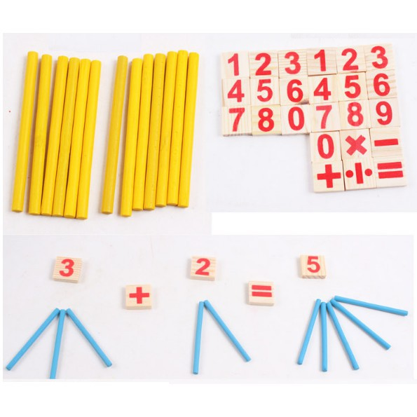 Đồ chơi bảng tính toán học gỗ - bảng tính que cho bé