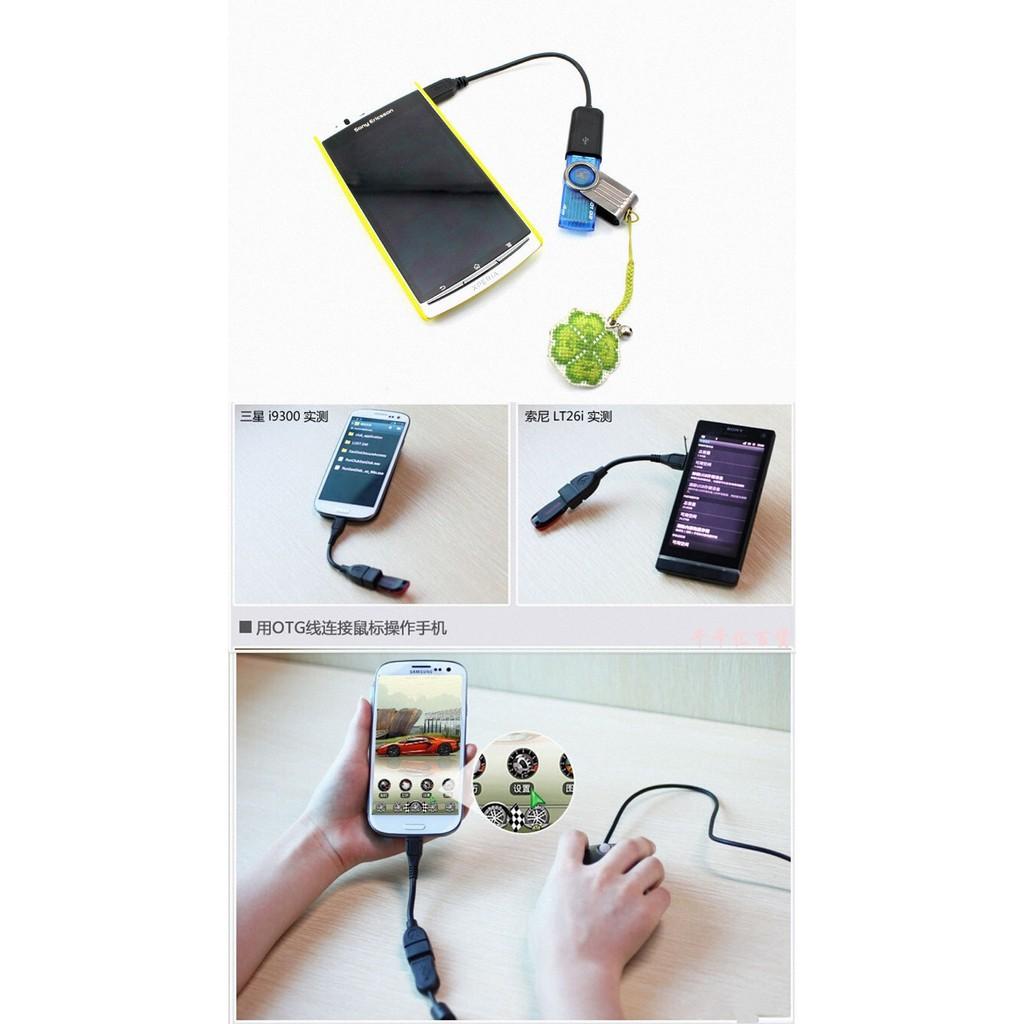 Cáp Chuyển Đổi Dữ Liệu Otg Micro Usb Android