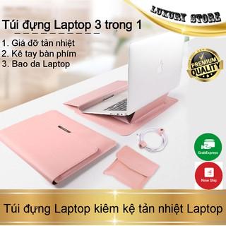 Combo 3in1 Bao da Macbook/Surface/Laptop nâng cấp 2021 hoàn toàn mới- Da Cao Cấp