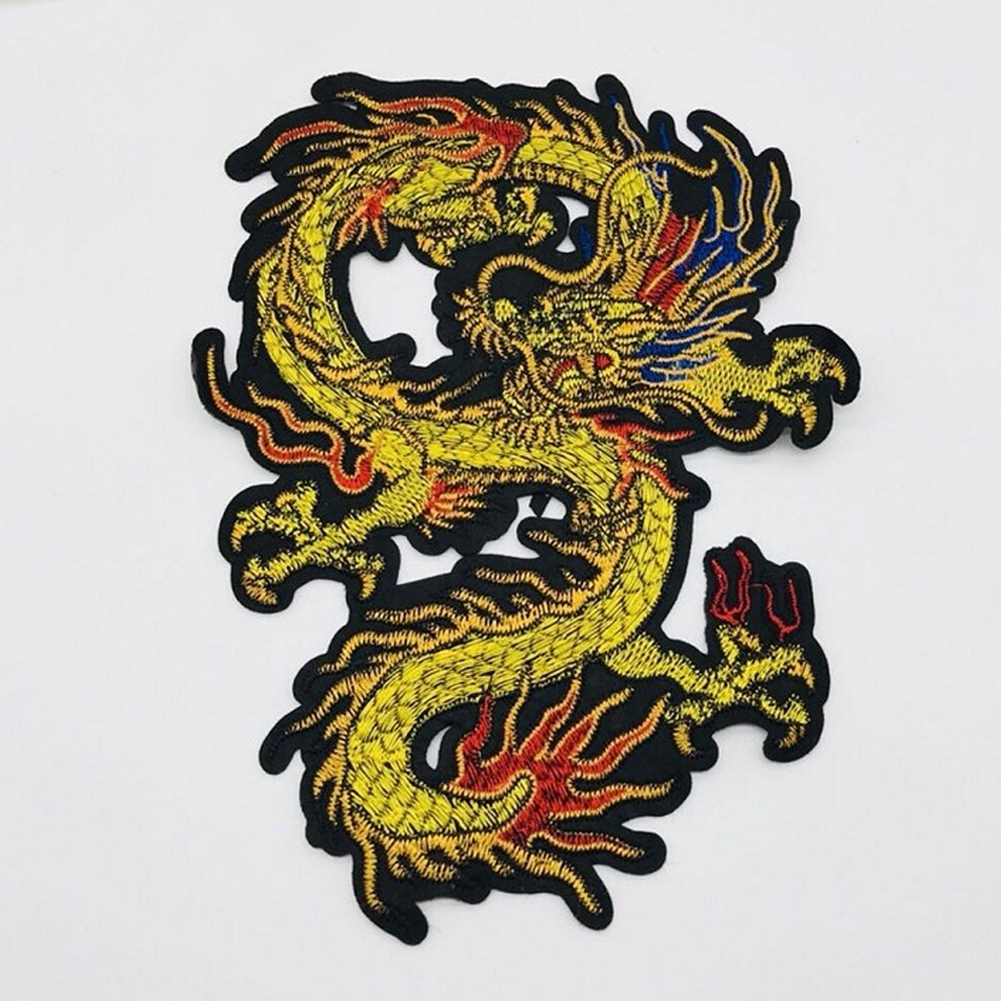 Handmade Sewing Supplies Repair Clothes Decor Craft DIY Dragon Shape Embroidery Patch