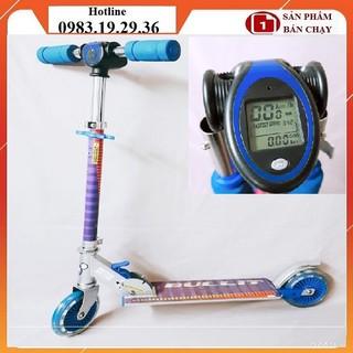 (Tặng bảo hộ) Xe trượt trẻ em gắn đồng hồ km, tải trọng 60kg