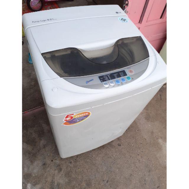 เครื่องซักผ้าLGขนาด6.0kg ✅มือสองพร้อมใช้งานได้ปกติ