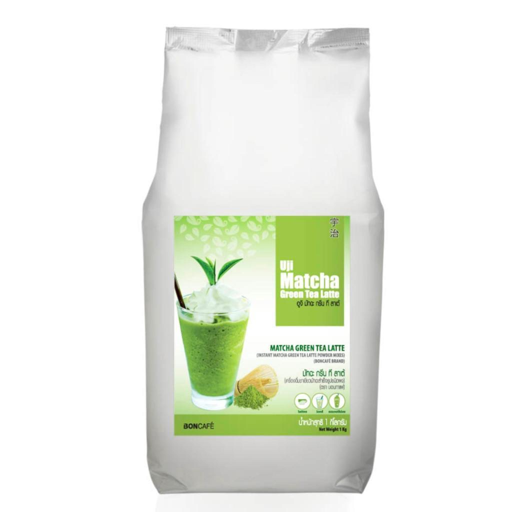 ชาเขียวพรีเมี่ยมแท้พร้อมชงจากญี่ปุ่น Uji Matcha Green Tea Latte (1 กก. ถุงฟอยล์) อูจิ มัทฉะ กรีนที ลาเต้าเขียวพรีเมี่ยมแ