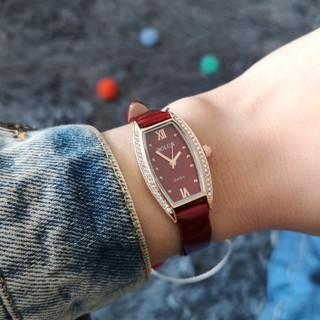 Đồng hồ nữ Bolun mặt chữ nhật dây da vintage dễ thương thumbnail