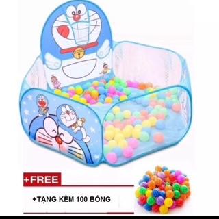 Lều bóng tặng 100 bóng cho bé