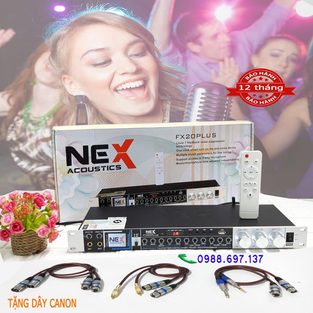 vang chỉnh cơ karaoke NEX FX 20 plus- vang cơ tặng dây canon