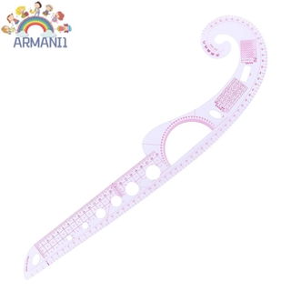 Armani ABS Sewing Tools Soft Plastic Comma Shaped Curve Measure Tailor Rulers