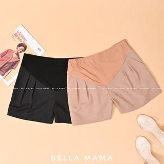 Quần đùi bầu thiết kế Bella 2 màu BE- ĐEN Quần sooc bầu Quần short bầu chất trượt Hàn Quần bầu nữ bigsize 45-80kg thumbnail
