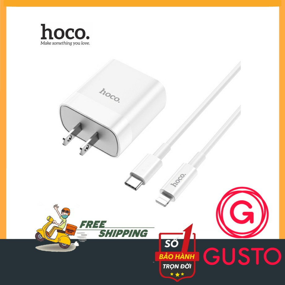 Bộ Sạc Nhanh 18W Cho Iphone Hoco C80✔️Hỗ Trợ Sạc Nhanh QC3.0