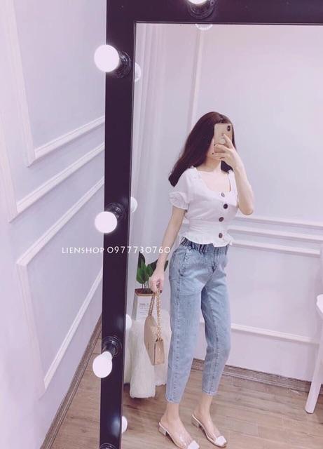 (Guu_house) Quần bò nữ cạp chun