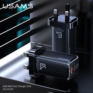 USAMS T33 Cốc Sạc Nhanh Mini 65w Pd3.0 + Qc3.0 Gan Mini Cho Iphone Oppo Samsung Huawei Vivo Xiaomi