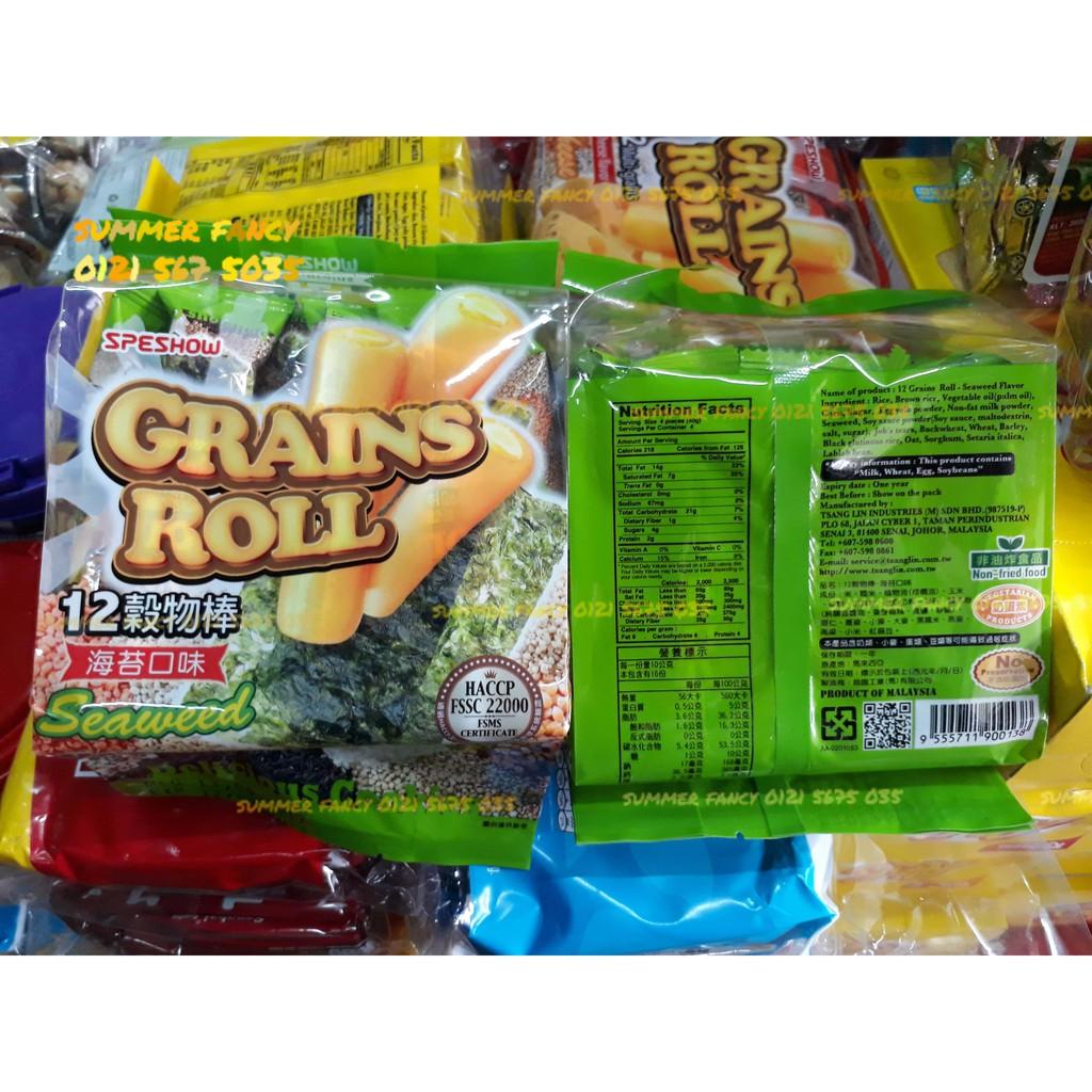 160g Bánh xốp gạo Malaysia vị rong biển Speshow Bánh ngũ cốc dinh dưỡng Grains Roll - bánh kẹo tết - 9922987 , 805152769 , 322_805152769 , 42000 , 160g-Banh-xop-gao-Malaysia-vi-rong-bien-Speshow-Banh-ngu-coc-dinh-duong-Grains-Roll-banh-keo-tet-322_805152769 , shopee.vn , 160g Bánh xốp gạo Malaysia vị rong biển Speshow Bánh ngũ cốc dinh dưỡng Grains