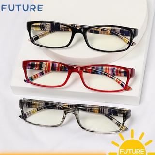 🎈FUTURE🎈 Women Men Anti-Blue Light Eyeglasses Comfortable Eye Protection Reading Glasses Portable Elegant Fashion Vintage Ultra Light Frame Wine Red/Grey/Black