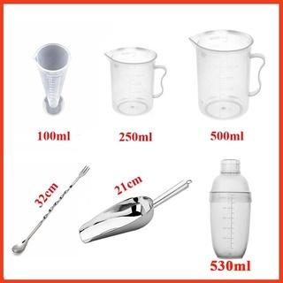 Combo bộ 6 món dụng cụ pha chế trà chanh, trà sữa thumbnail