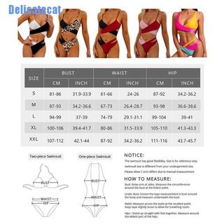 [Delicatecat] Women Swimsuit Sexy Split Two-color Cross Bikini Swimming Bathing Suit