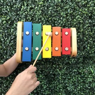 Đàn Xylophone 5 Thanh Loại To Bằng Gỗ Hàng Việt Nam
