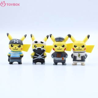 TOYBOX New 10 pieces / set of baokemeng pocket monster Pikachu hand made animation around the stall model toy doll TOYBOX