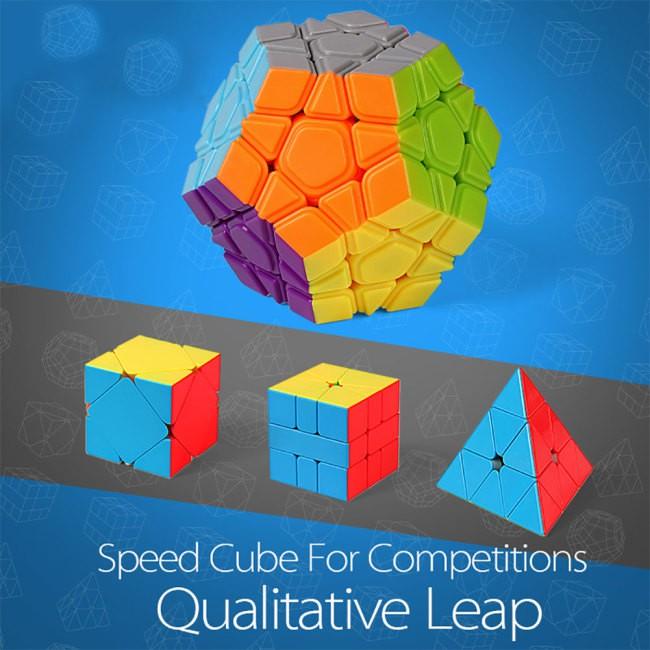 4PCS Special Shape Magic Puzzle Cube Set Puzzle Kids Educational Toy Gift