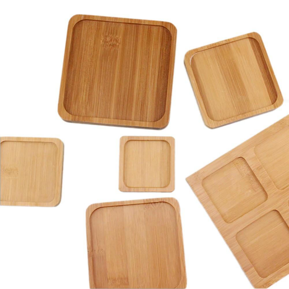 Khay gỗ tre hình vuông/ tròn bền và thân thiện với môi trường