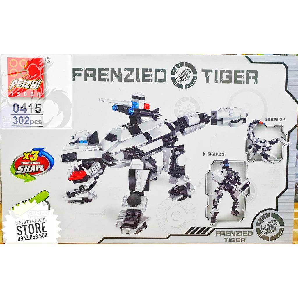 Lego Peizhi 0415 Lắp Ráp Cọp Cuồng Nộ - Frenzied Tiger ( 302 Mảnh )