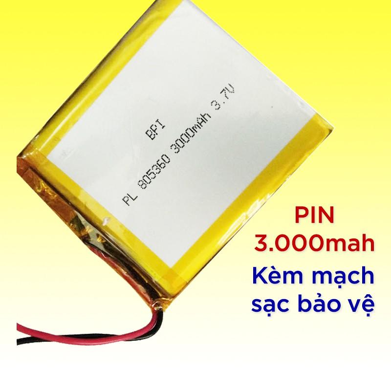 Pin sạc Lipo BPI Polyme 3.7V 100 / 500 / 540 / 1500 / 3000 mAh kèm mạch sạc bảo vệ