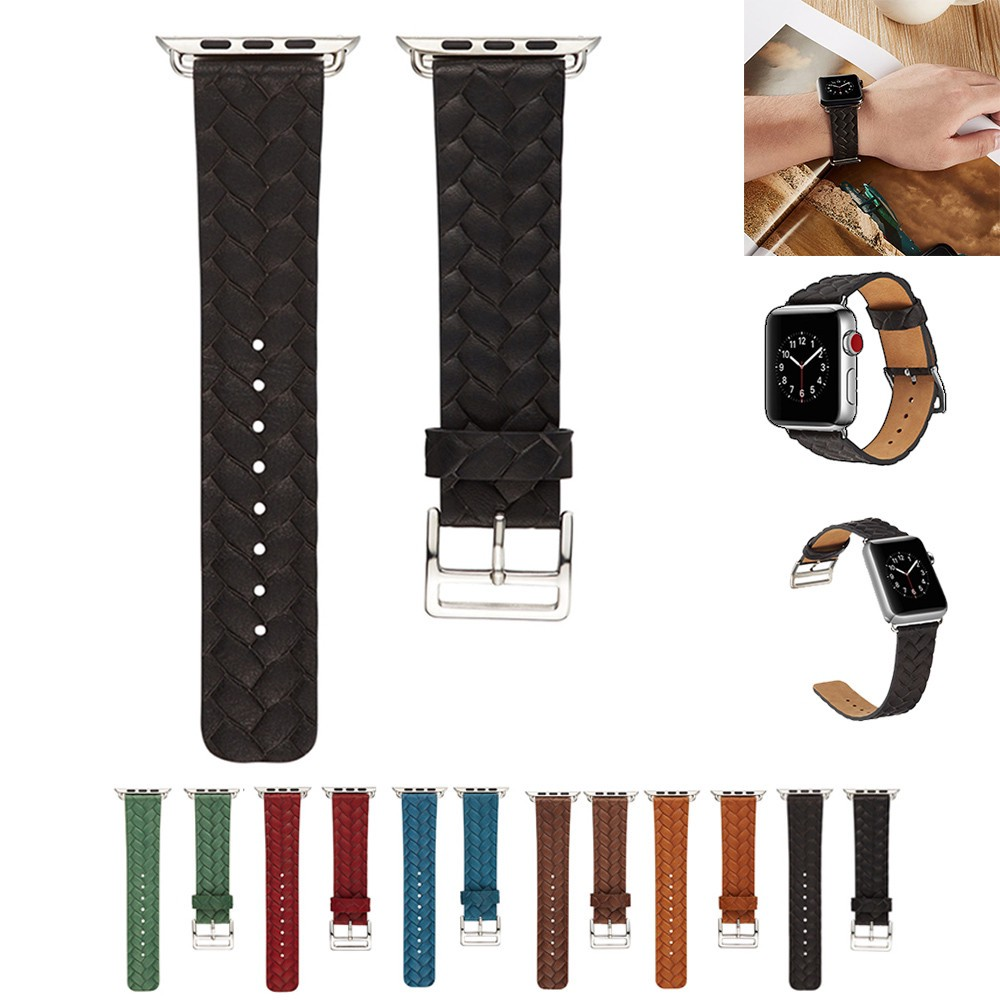 Fashion new Leather Replacement Watch For Apple Smart Watch Series 1/2/3 38mm