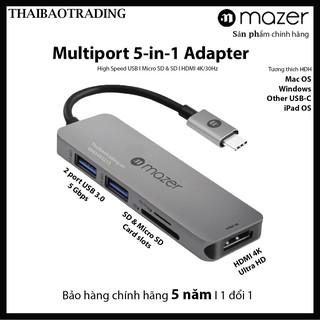 Bộ chia cổng Mazer Multiport-C 5in1 Slim – Hub chia 5-in-1