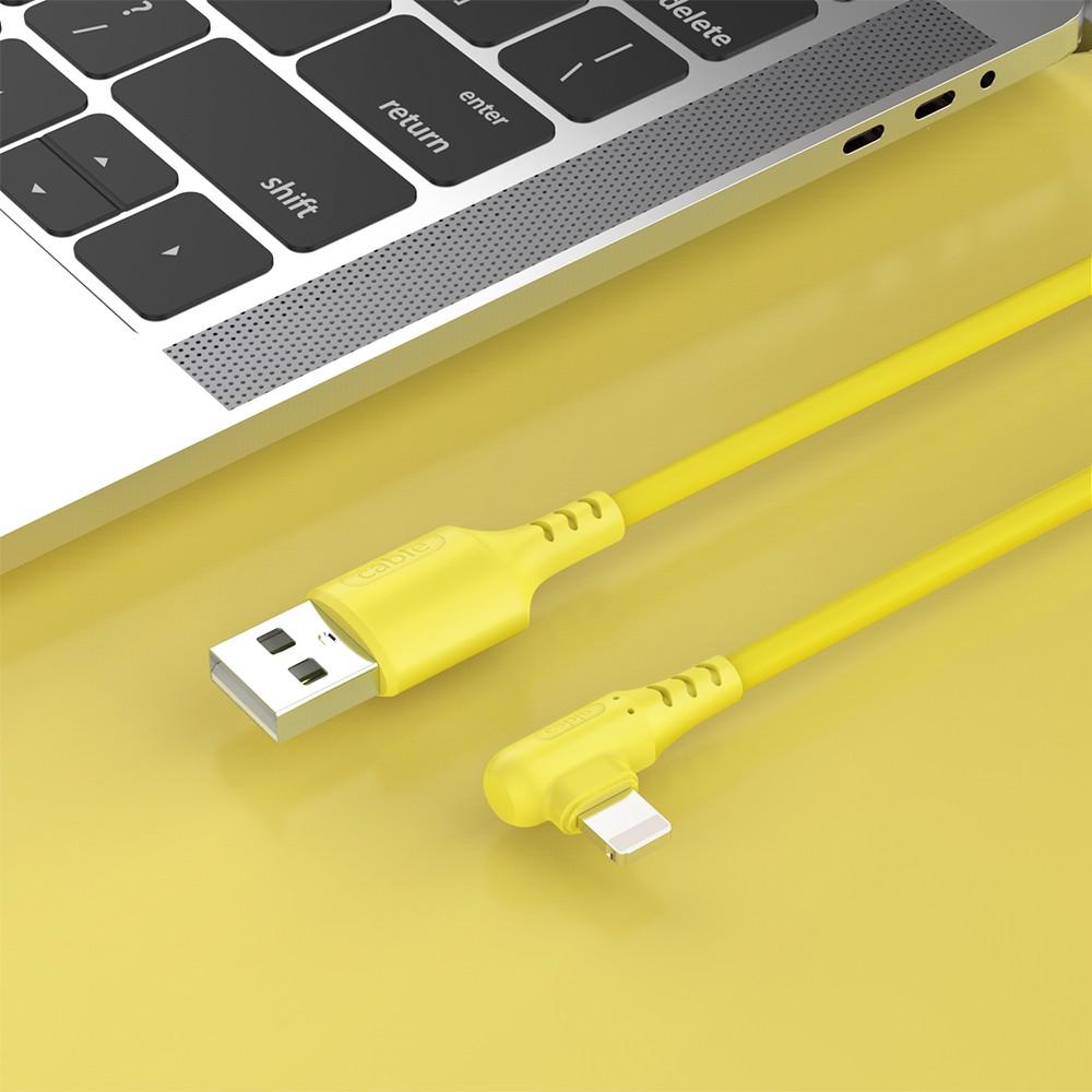 Dây cáp sạc USB kiểu góc 90 độ 1m cao cấp cho iPhone sạc nhanh iphone
