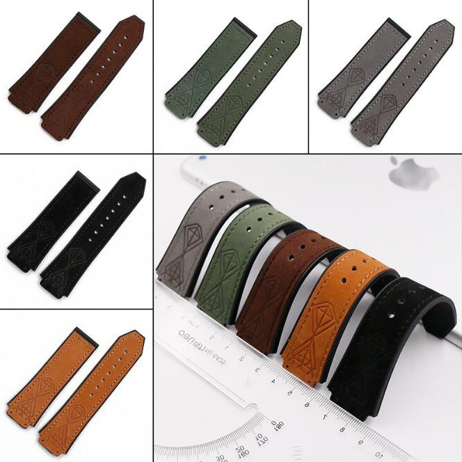 25*19mm leather Nature rubber silicone watchband watch band strap for Hublot strap