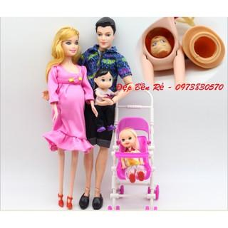 Hộp Quà Tặng Búp Bê Gia Đình Barbie Bầu Hạnh Phúc – GD1