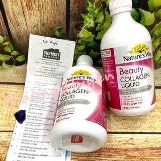 (Đủ Bill + Tem Chemist) Collagen Dạng Nước 500ml Beauty Liquid Nature s Way thumbnail
