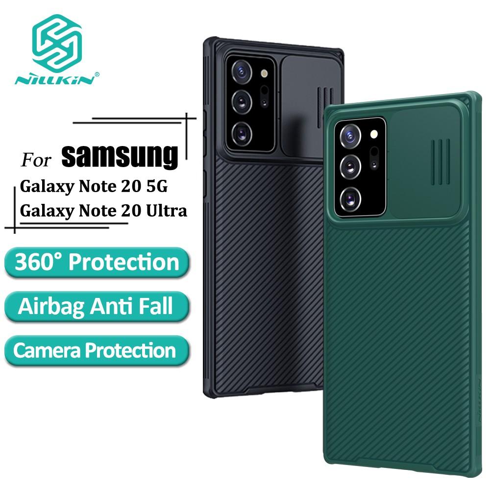 NILLKIN CamShield PC Vỏ bọc Đối với Samsung Galaxy Note 20 Ultra / S20 / S20 + Ultra 5G / A51 / A71 Điện thoại Trường hợp Frosted chống rung Bảo vệ Back Cover