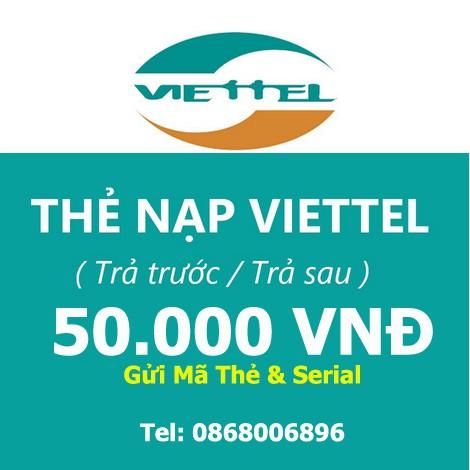 Thẻ Điện Thoại Viettel 50K