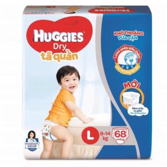 Tã quần Huggies Super Jumbo L68 / XL62/ XXL56 (mẫu mới)