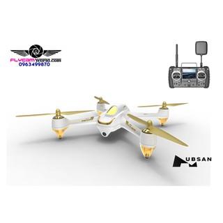 Flycam Hubsan H501S-Phiên bản cao cấp 1080P camera GPS màu trắng