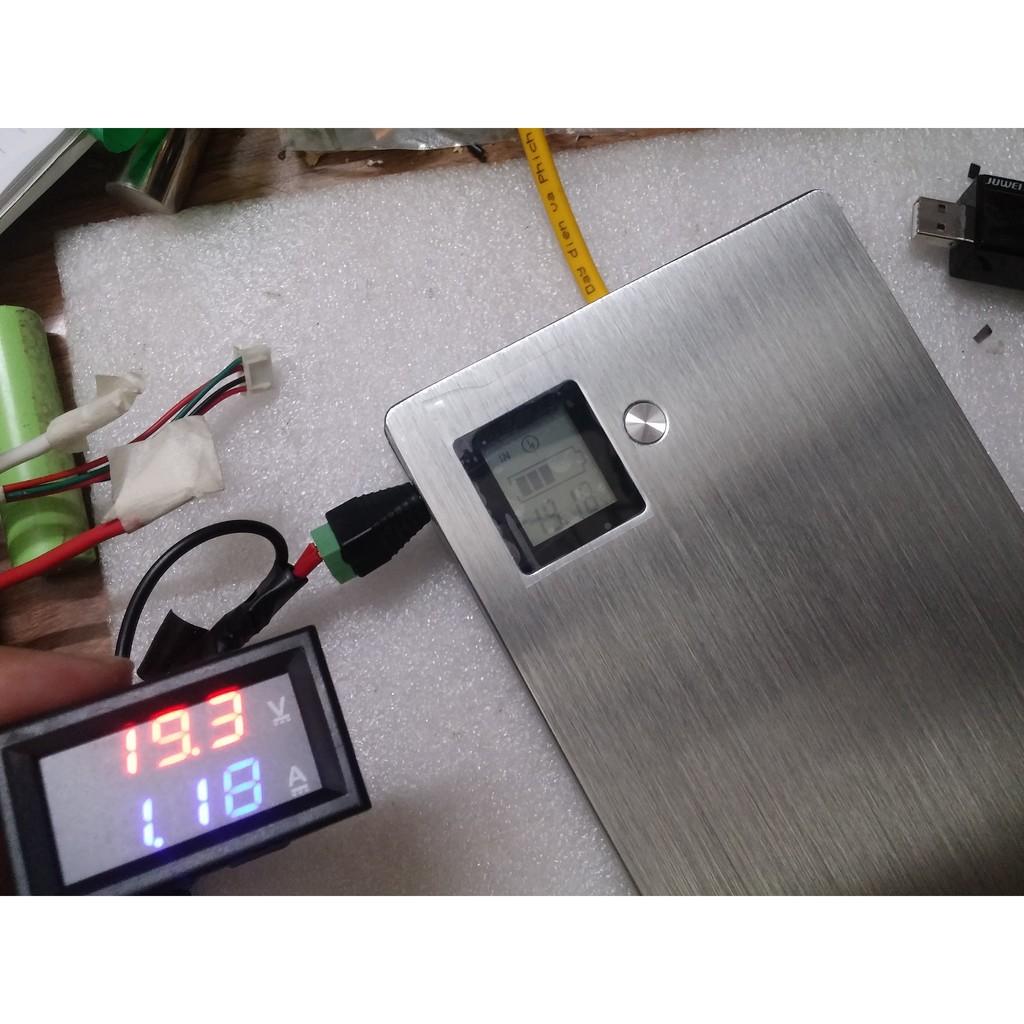 Box sạc laptop vỏ nhôm lắp 12 pin 18650 hỗ trợ QC 2.0/3.0