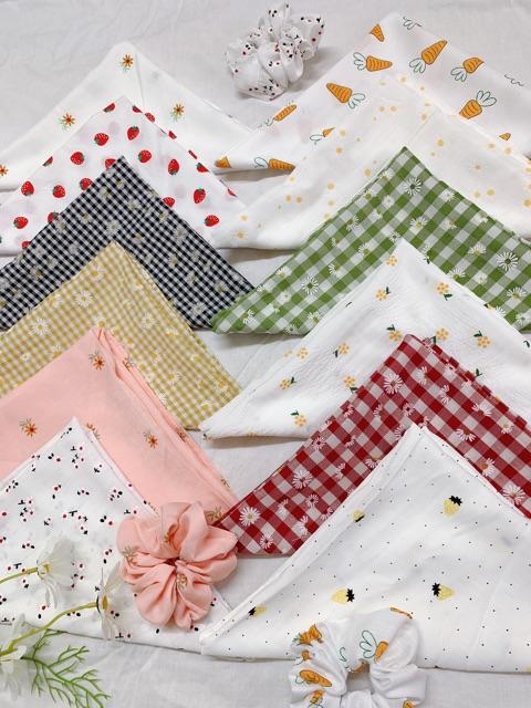 [Mã FAMS8 hoàn 8K xu đơn bất kỳ] Khăn bandana và scrunchies đa năng loại đẹp bán rời