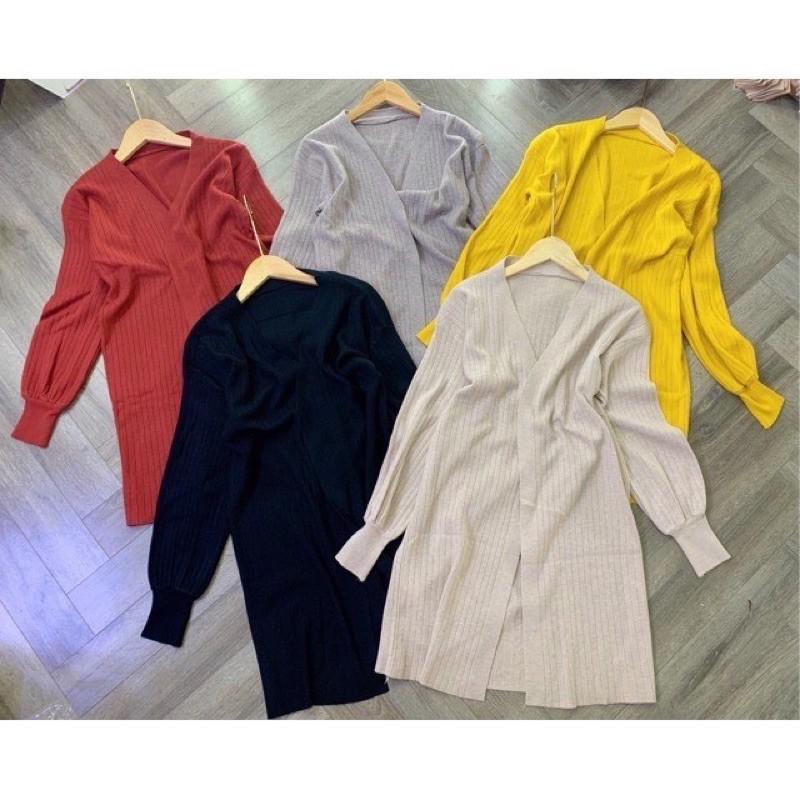 áo choàng len dáng dài - bo tay (180#)