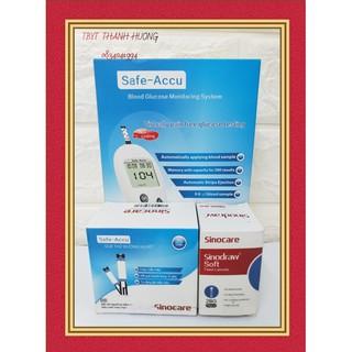 [HÀNG CHÍNH HÃNG] Máy đo đường huyết Safe Accu, tặng 50 kim lấy máu + 50 que thử đường thumbnail
