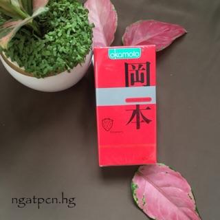 Bao cao su siêu mỏng hương dâu Okamoto Skiness Skin Strawberry – Hộp 10 chiếc