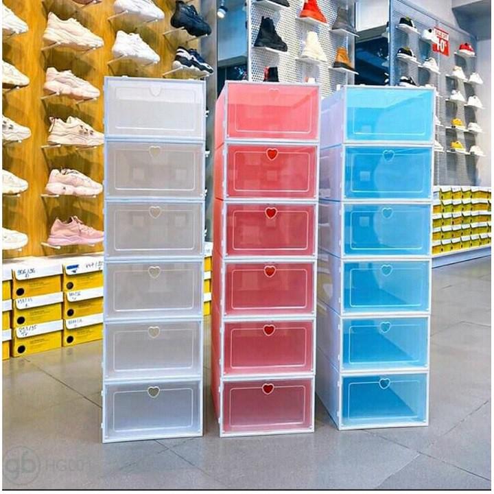 Hộp Đựng Giày Nắp Ghép Thông Minh, Hộp Đựng Giày Nắp Cứng Nhựa Trong Suốt Chịu Lực