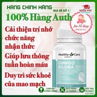 (100% Hiệu Qủa) Viên uống bổ não Ginkgo Biloba 2000 Úc mẫu mới điều trị rối loạn tiền đình, ù tai, chóng mặt