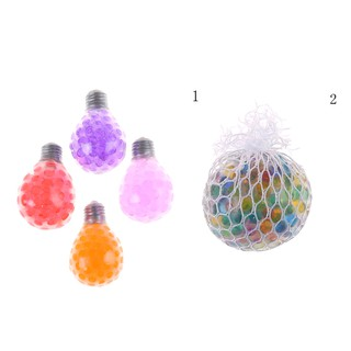 Rubber Bulb Fruit Ball Hand Wrist Squeeze Toy Stress Autism Mood Relief Gift