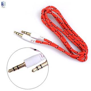 Dây cáp âm thanh sợi bện Male sang Male giắc cắm 3.5mm cho iPhone MP3 MP4