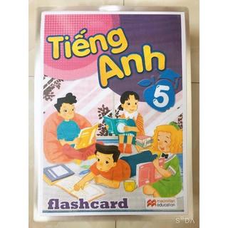 FLASHCARD TIẾNG ANH LỚP 5 - In 2 Mặt  - Ép plastic