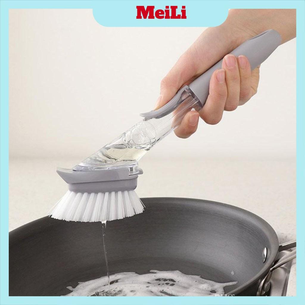 Dụng cụ rửa bếp FREESHIPBàn chải cọ rửa thân chứa được dung dịch tẩy rửa DECON (Tuyển Sỉ)