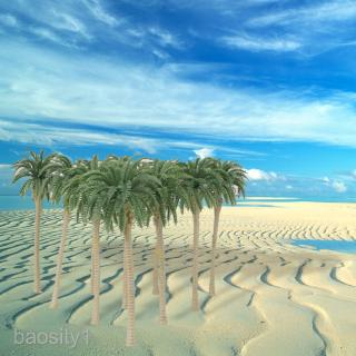 20x Model Train Railway Coconut Palm Tree Diorama Landscape Scenery N 1/150