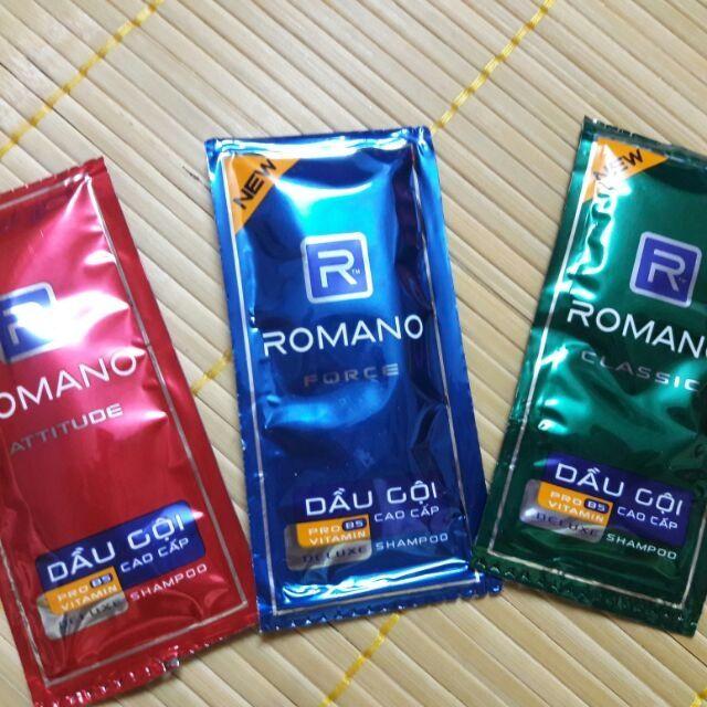 Combo 3 gói dầu gội Romano